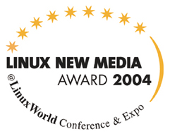 Linux New Media Award 2004